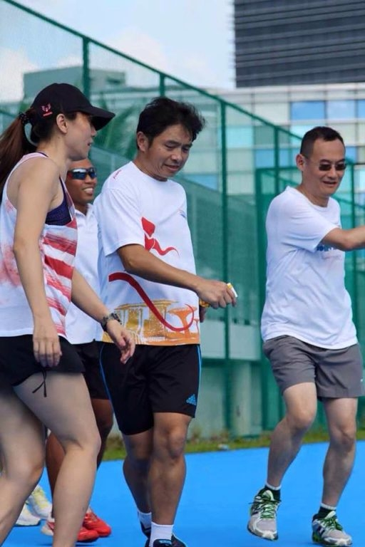 A special relay race event between TEACHERS & PARENTS, with Guest of Honour : Mr C Kunalan.